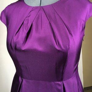 Banana republic purple silk dress size 10